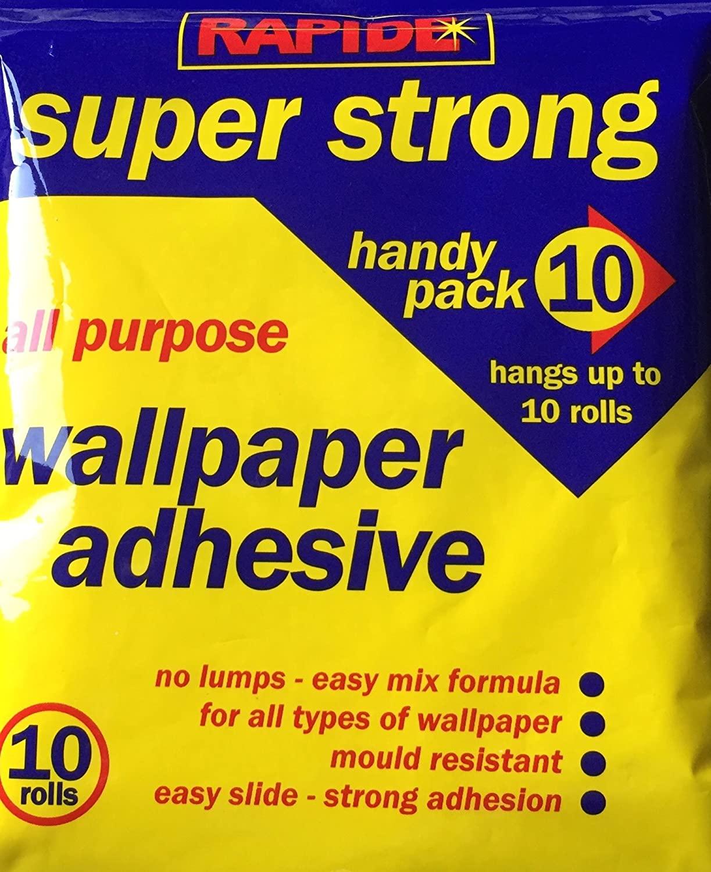 10 Roll Wallpaper Paste All Purpose Super Strong Stick Adhesive Glue 12 Pint Pk - XFN ...
